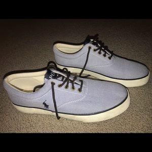 Blue Polo pinstripe shoes